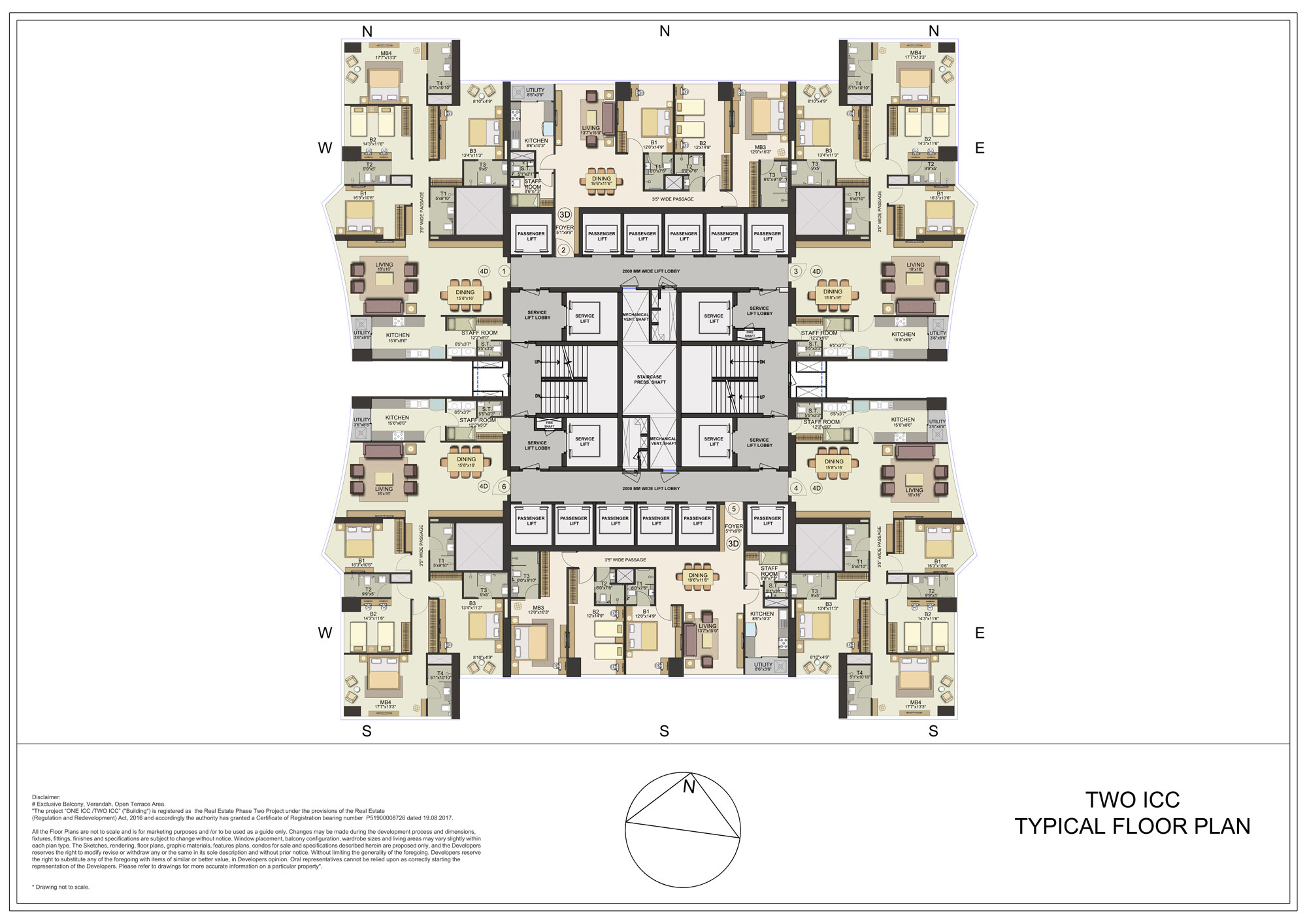 Two ICC Typical Floor Plan